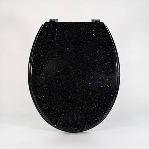 Massive Selection for Basic Toilet Lid - Polyresin Toilet Seat – Glitter Black – Haorui