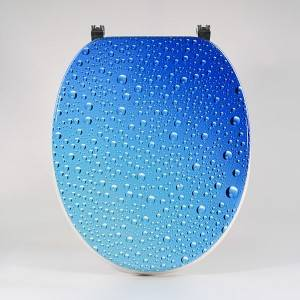 MDF Toilet Seat - Blue Bubble