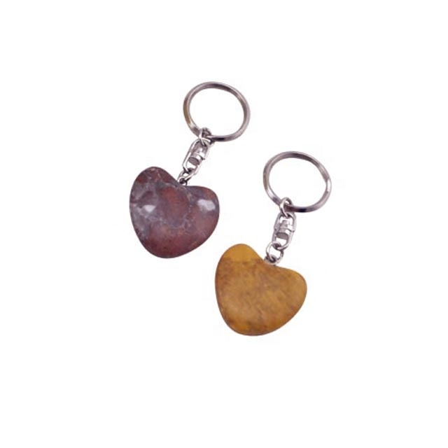 Chinese Professional Marble Plaque - factory supply hand polishing marble heart natural stone keychain – Harmony