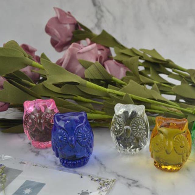 Factory Supply Glass Figurine - glass statue glass owls statue owls – Harmony