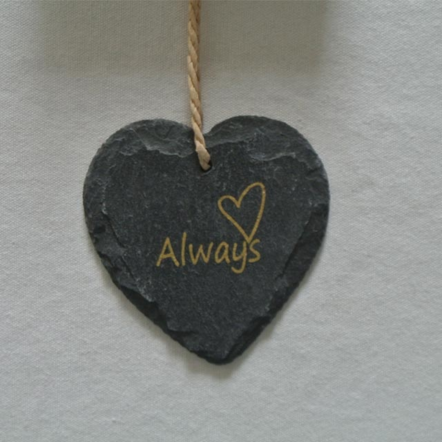 Wholesale Slate Tray – slate hanging heart shape slate plaque for decoration with gold printing – Harmony