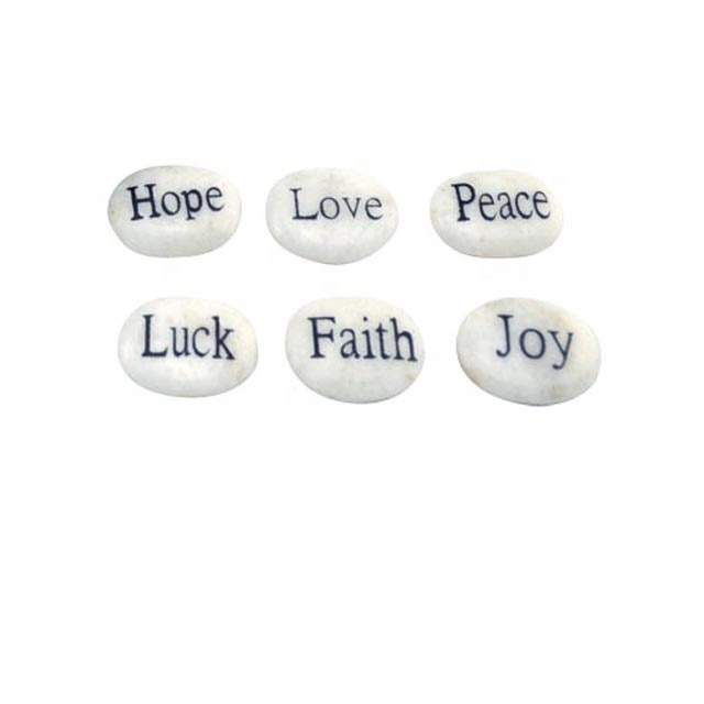 2020 High quality White Marble Gifts - natural customized engraving pocket stone – Harmony