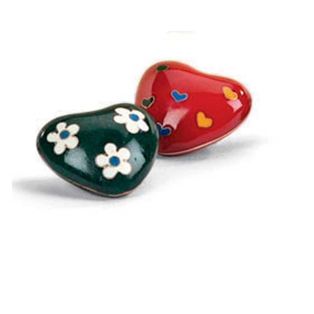 Metal heart Cloisonne heart with sound handmade   customized designs