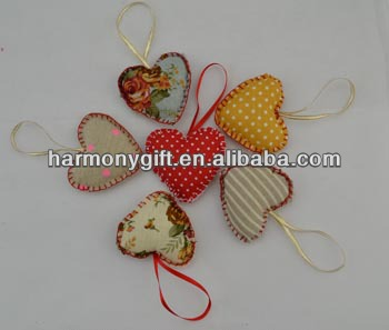 2020 New Style Guardian Stone - Item 6911 fabric hearts with hem, with ribbon – Harmony