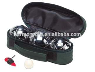 boules of 3pcs/set in nylon pouch