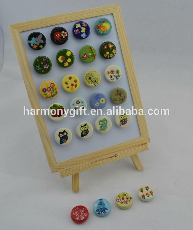 Factory wholesale Petanque Balls - magnet with beads shape with handpainting – Harmony
