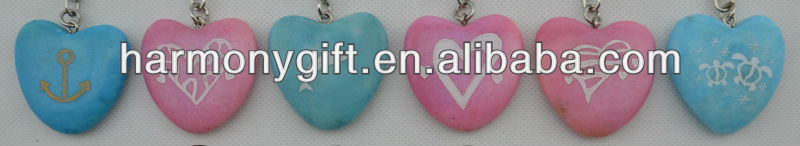 colored marble hearts keychain engraved different designs