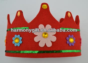 Professional China Crystal Rabbit - thick non-woven fabric crown for girl and boy – Harmony
