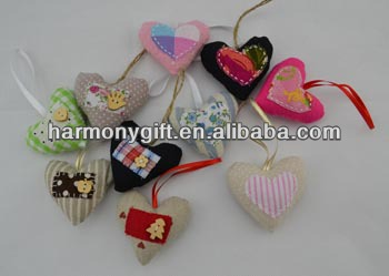 OEM manufacturer Stone Cutting Board - Item 6807 fabric hearts with patch, with button, with ribbon – Harmony