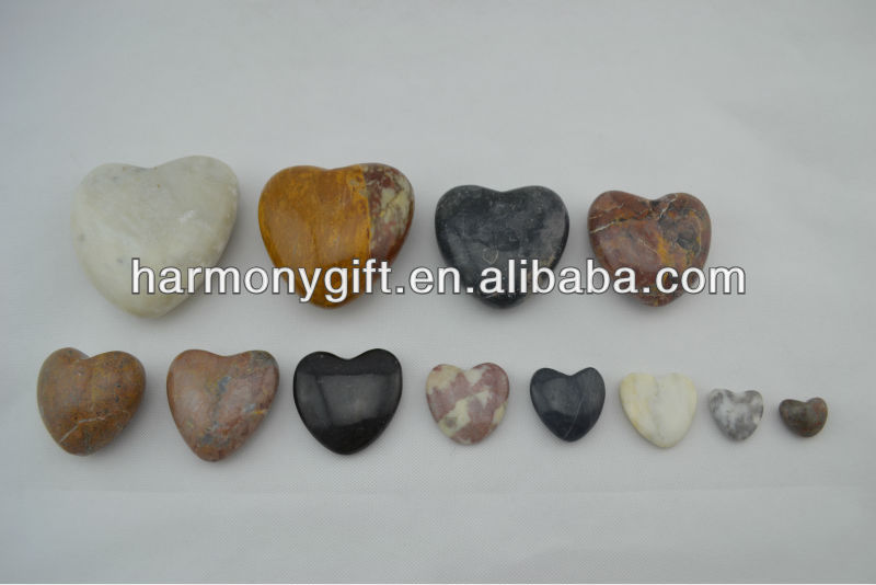 Bottom price Stone Beads - natural marble hearts – Harmony