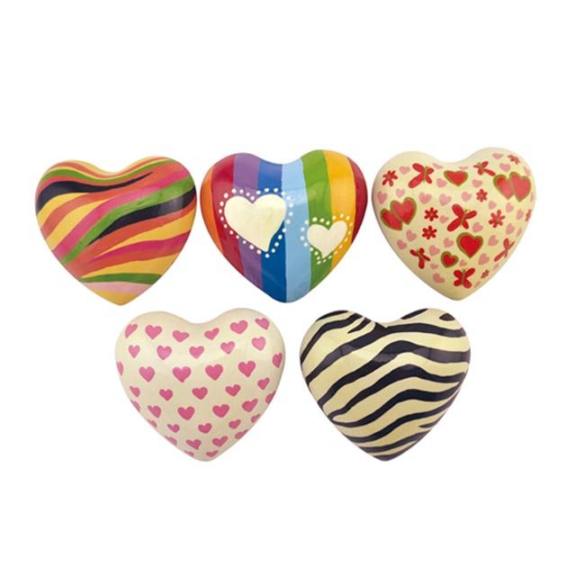 New Arrival China Handpainted Heart - metal heart with sound handpainted customized design – Harmony Featured Image