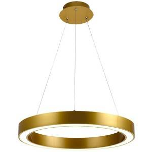 Best Price on Rectangle Chandeliers - Gold Ring Pendant Lighting HL60L10 – Haus Lighting