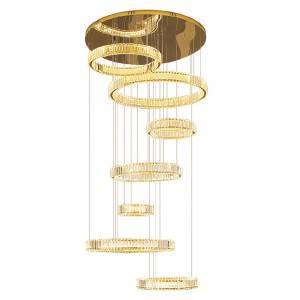 18 Years Factory Antique Brass Chandeliers - High Ceiling Stair Pendant light – Haus Lighting