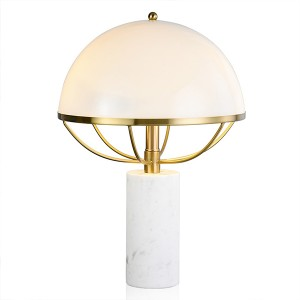 Mushroom Table Lamp in White and Gold HL60T01