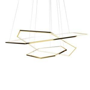 Big Discount Luxury Ceiling Light - Hexagonal geometric chandelier – Haus Lighting