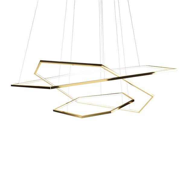 OEM/ODM Factory Brass Chandelierss - Hexagonal geometric chandelier – Haus Lighting
