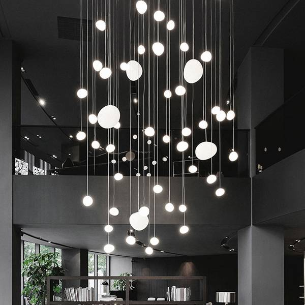 Hotel Lobby Project Pendant Lamp Bubble Glass Drop Lighting Creative LED Chandelier Featured Image