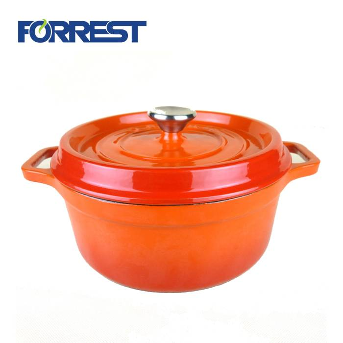 Hot sale Factory Enamel Skillet/Cast Iron Frying Pan - Cast iron soap dish Enamel Cast Iron Casserole Dish with Lid – Forrest