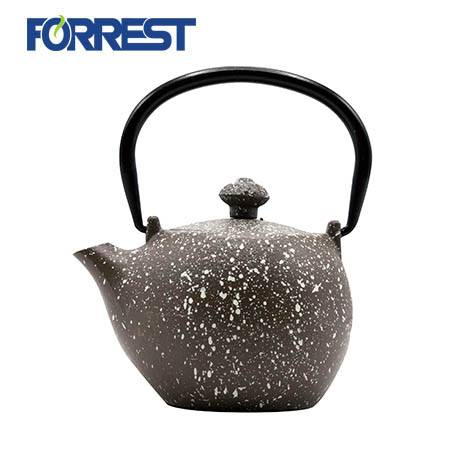 Top Quality Black Cast Iron Teapot - Chinese enamel cast iron tea kettle 0.3L Small cast iron teapot – Forrest