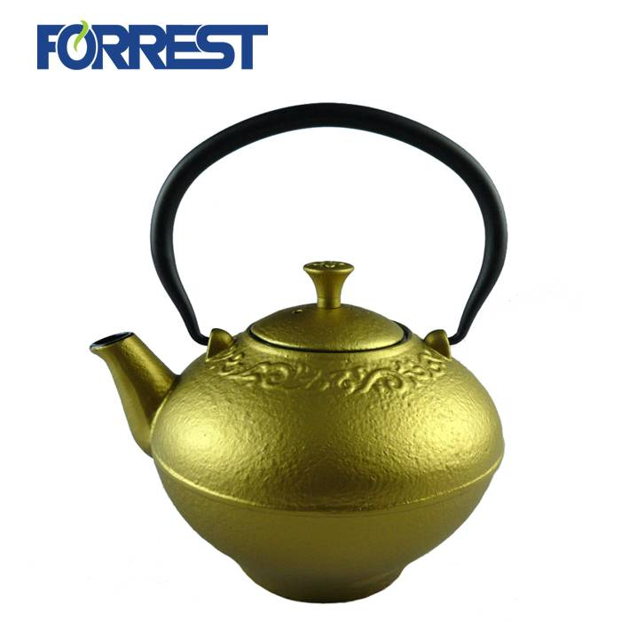 Factory directly Cast Iron Square Grill Pan - Enamel antique cast iron teapot kettle – Forrest