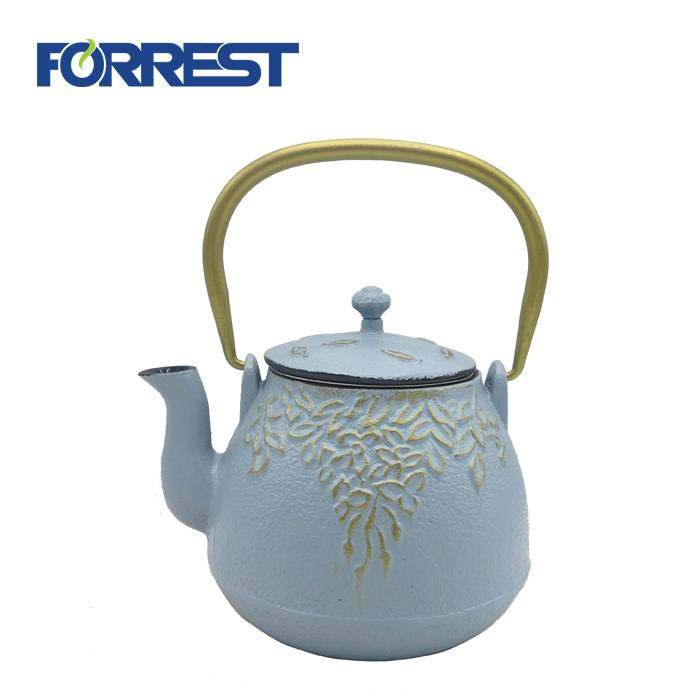Hot-selling Cast Iron Skillet Set - Cast Iron Tea Kettle with Infuser  teapot cast iron – Forrest