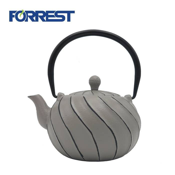 High definition Enamel Cast Iron Teapot - Antique cast iron kettle tea cast iron enamel coated kettle – Forrest