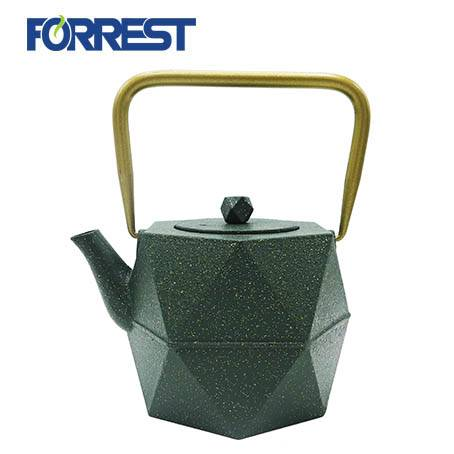 New Diamond Design Tea Kettle Coated with Enameled cast iron teapot with infuser 900ml