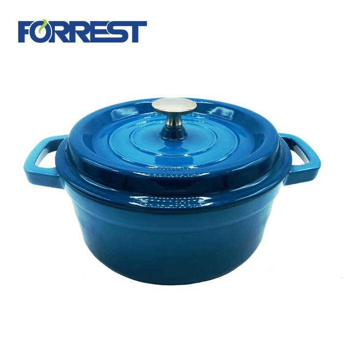 Factory Outlets Cast Iron Skillets Set Of 4 - Cast iron cookware casserole dish enamel hot pot colour casserole – Forrest
