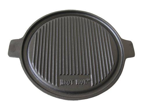 Barbecue vegetable oil ribbed and smooth cast iron double side fry pan
