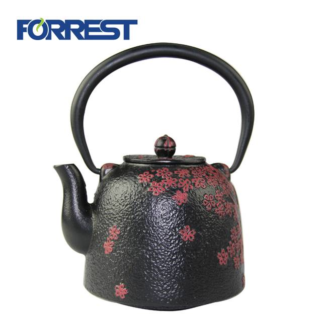 PriceList for Cast Iron Teapot Sets - Kettle Set Enamel Cast iron teapot with cup – Forrest