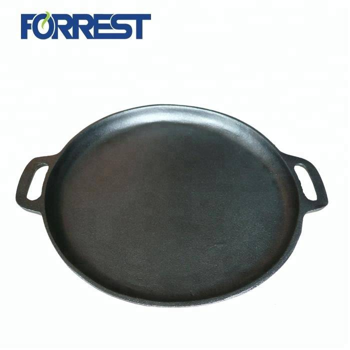 Manufacturing Companies for Small Cast Iron Stove - Round cast iron barbecue grill pan – Forrest
