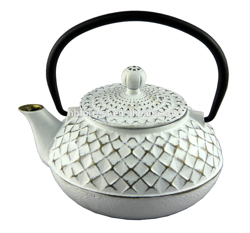 Best Price on Big Teapot - 0.5L White cast iron teapot in enameled – Forrest