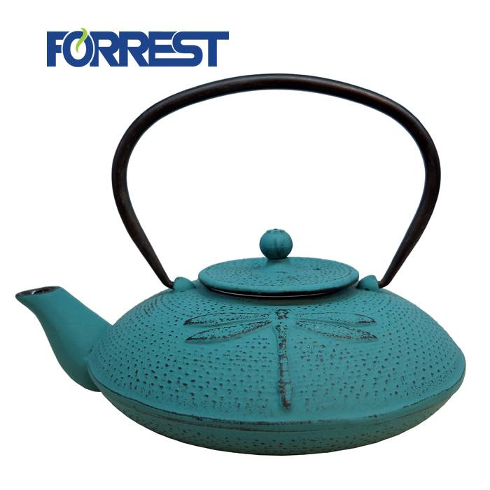 Excellent quality Cast Iron Teapot With Cups - Enamel Japanese Cast iron Teapot Kettle with Dragonfly – Forrest