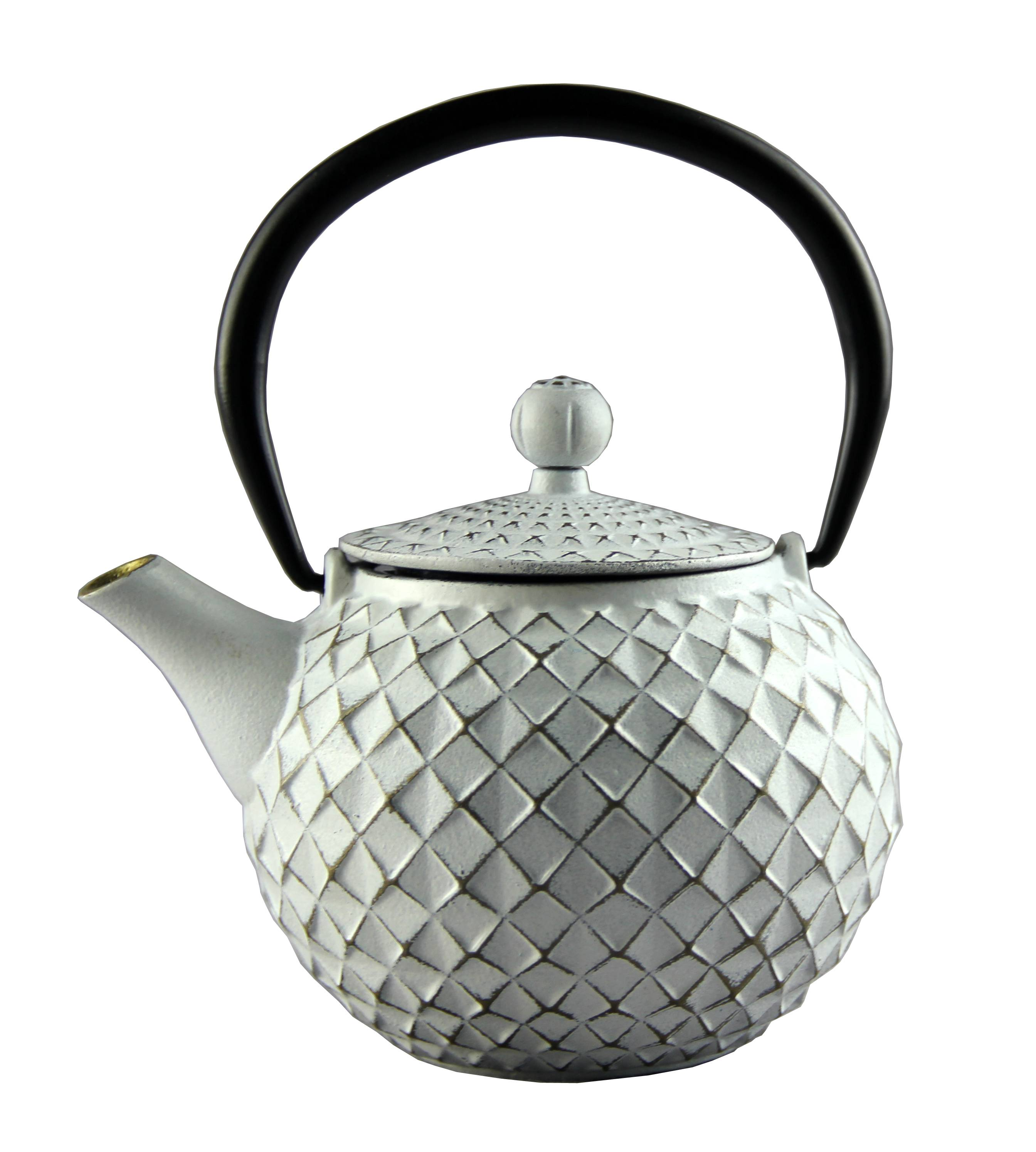 OEM manufacturer Color Cast Iron Cookware - Diamond type cast iron enamel teapot – Forrest