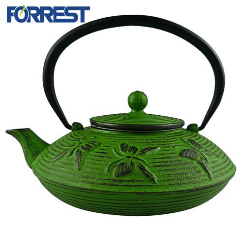 Hot Sale Enamel Cast Iron Coated Teapot Kettle With Stain Steel Infuser Teapot