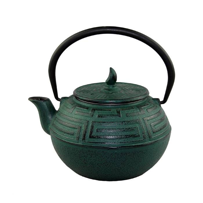 Factory directly Mini Teapots - 1.2L 1.75kg best wholesale Eurofins  approved customized color enamel  tetsubin cast iron kettle  teapot antiqu style – Forrest Featured Image