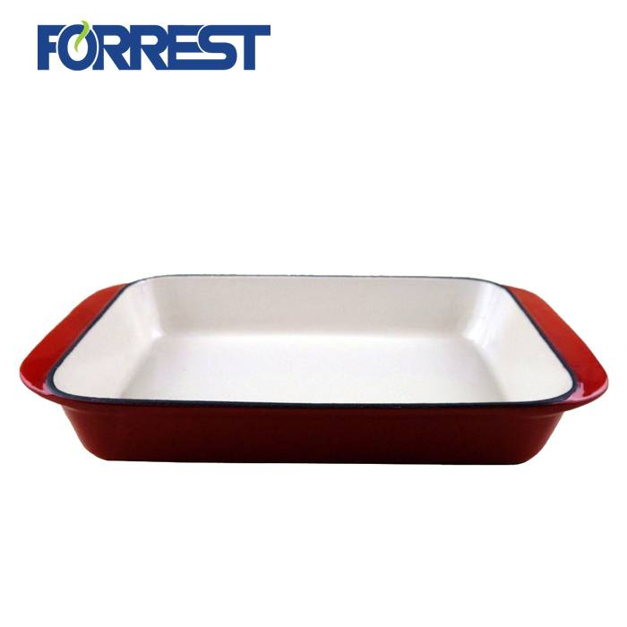 China Supplier Old Cast Iron Skillet - Rectangular Cooking Pot Chef's Classic Cast Iron Enameled Baking Dish Roasting Lassagan Pan – Forrest