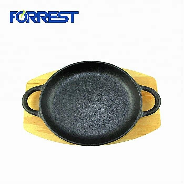 High definition Enameled Cast Iron Cookware - Hot Sale Cast Iron Double side frying plate Non-Stick Frying Pan – Forrest