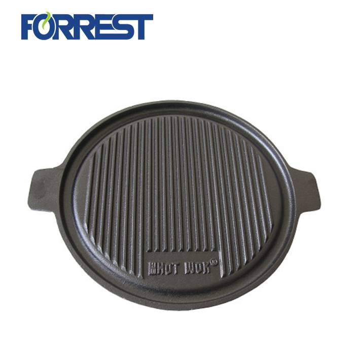 Big Discount Cast Iron Frying Pans - Hot Sale Cast Iron Reversible Grill/Griddle Plate Pizza Baking Pan For Cookware – Forrest