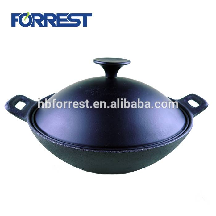 High definition Iron Cast Round Shaped Pizza Pans - 30cm Chinese cast iron wok – Forrest