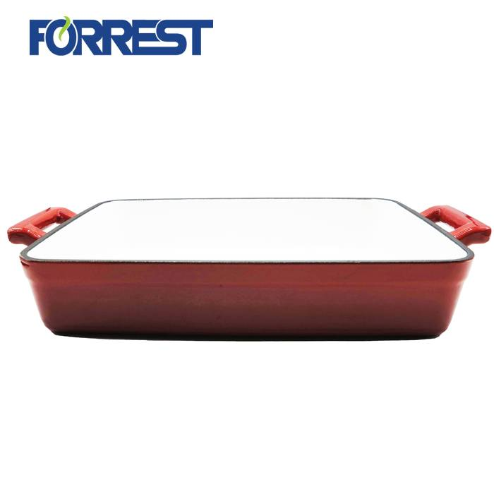 Reliable Supplier Modern Design Teapot - Enamel Cast Iron Grill roasting Pans – Forrest