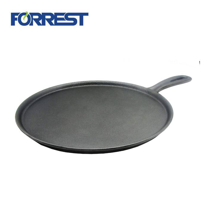 Rapid Delivery for Cast Iron Casserole And Fry Pans - Hot Sale Cast Iron Round Roti Pan Frying Pan for Cookware – Forrest