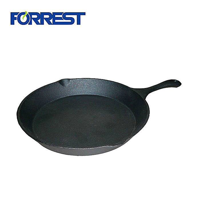 Hot sale Factory Rectangular Cast Iron Baking Pan - Cast iron round pizza frying grill pans with handle – Forrest