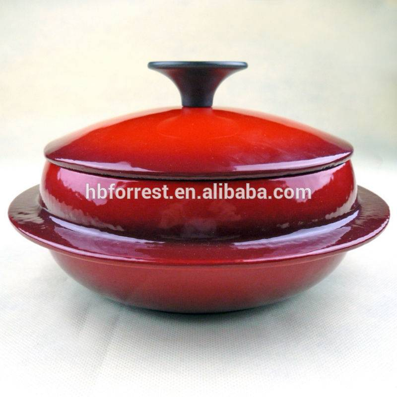 Factory wholesale Classic Cast Iron Skillet - Chinese new design enamel Cast iron two double wok casserole set – Forrest