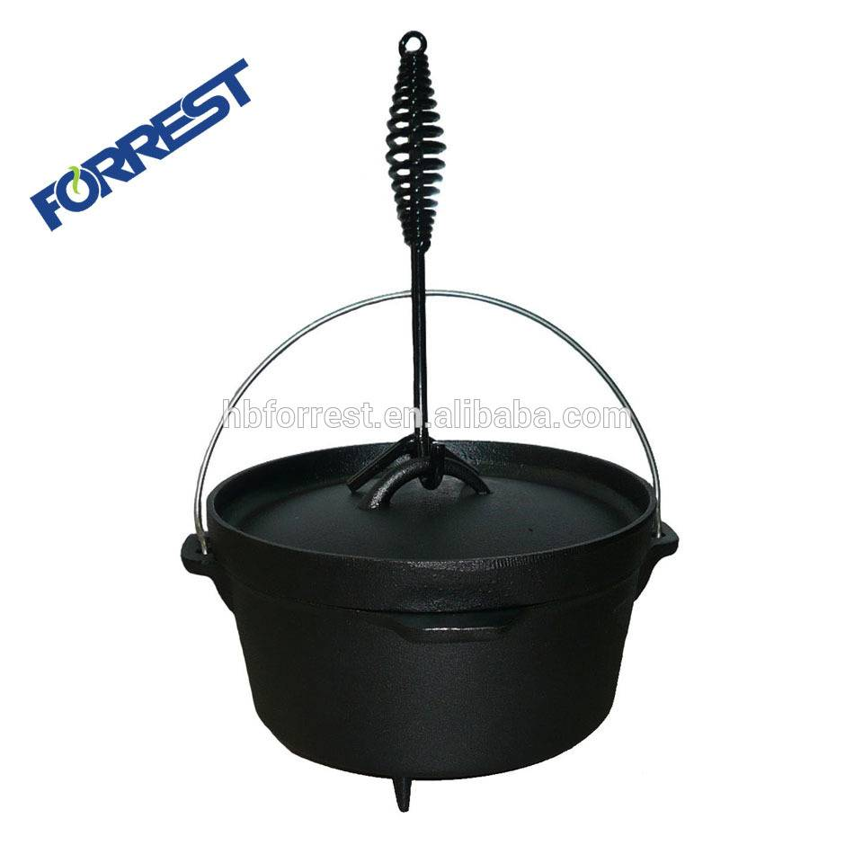 high quality three legs dutch oven for camping cookware