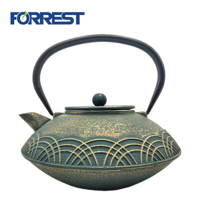 Best quality Fashion Colorful Teapot - Enamel Tea Kettle Stovetop Stainless Steel Infuser Cast Iron Japanese Antique Teapot – Forrest