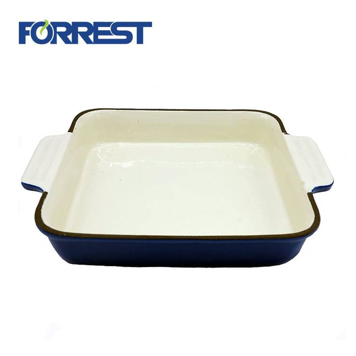 Good quality Cast Iron Steak Plates - Cast iron square roasting serving dish pan – Forrest