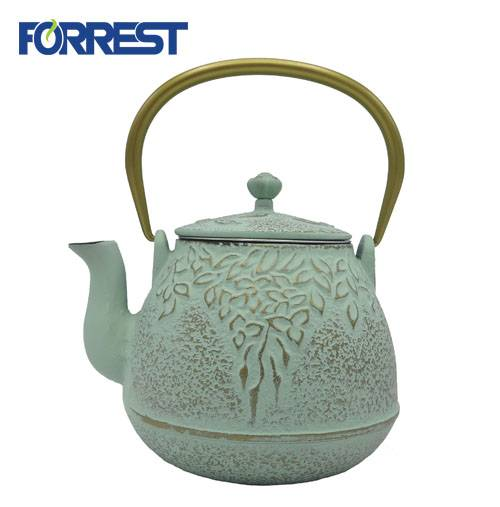Factory Price Outdoor Camping Cast Iron Cookware Set - New Design Enamel Black Metal Teapot – Forrest