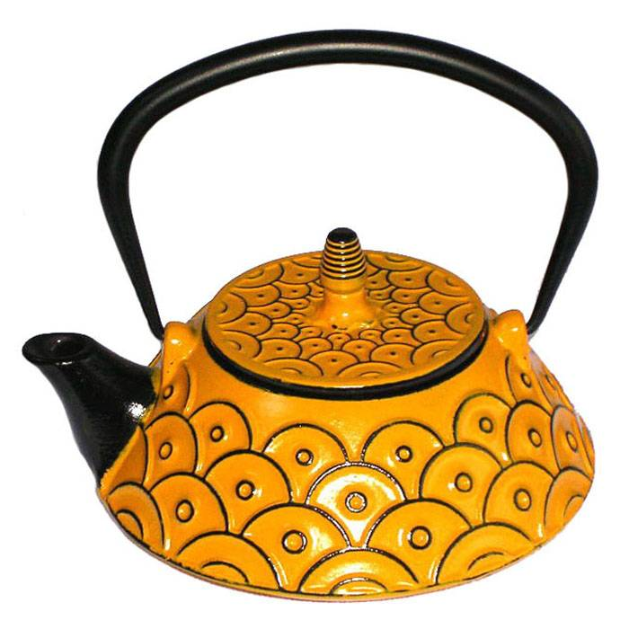 Chinese wholesale Teapot Set - 0.8L  best wholesale Eurofins  approved yellow color enamel  tetsubin cast iron kettle  teapot with S/S Infuser – Forrest