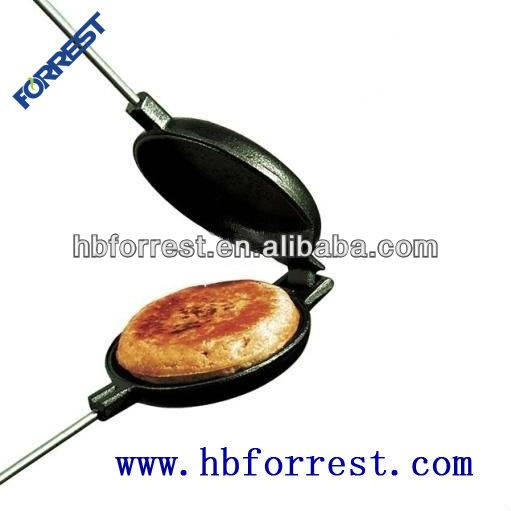 Low MOQ for Enamel Cast Iron Casserole Sets - round pie iron or jaffle iron – Forrest